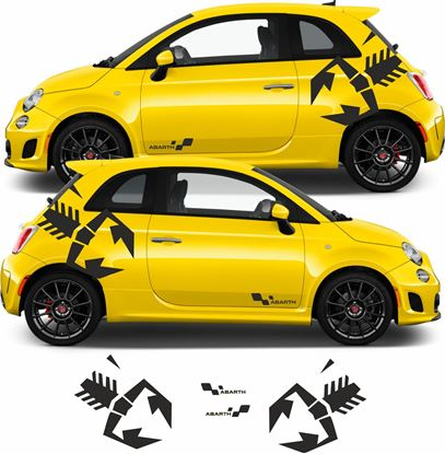 Picture of Fiat  500 / 595  Abarth side Stickers / Decals