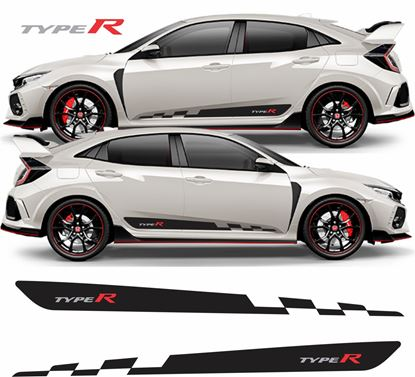 Picture of Honda Civic Type R FK2 / FK8 side Stripes / Stickers