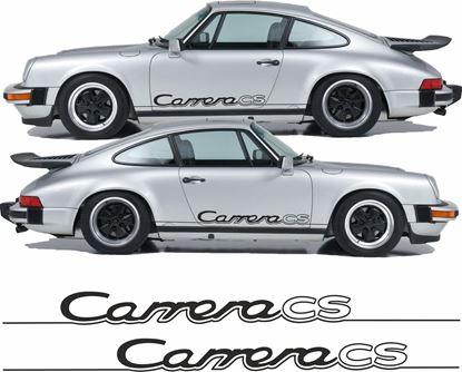 "Picture of Porsche 930 Carrera Club Sport ""CS"" side Script  Stickers / Decals"