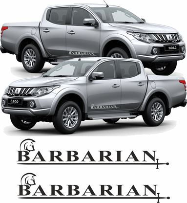 Picture of Mitsubishi L200 Barbarian side Decals / Stickers