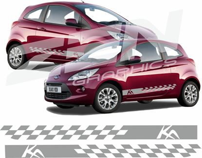 "Picture of Ford KA  Custon Design ""KA"" side Stripes / Stickers"