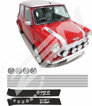 Picture of Classic Mini Cooper full restoration Decals / Pin Stripes / Bonnet stripes