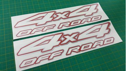 "Picture of Nissan Navara / Frontier / Terrano  ""4x4 off road"" replacement side Decals / Stickers"