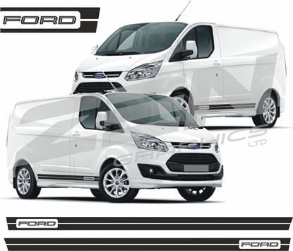 Picture of Ford Transit Custom Design side stripes Decals Stickers