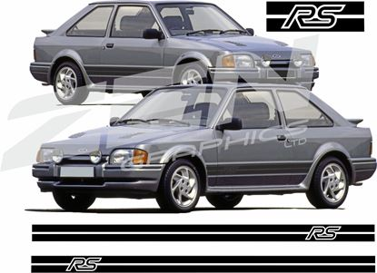 Picture of Ford Escort Series 2 RS Turbo  custom design  RS side Stripes / Stickers