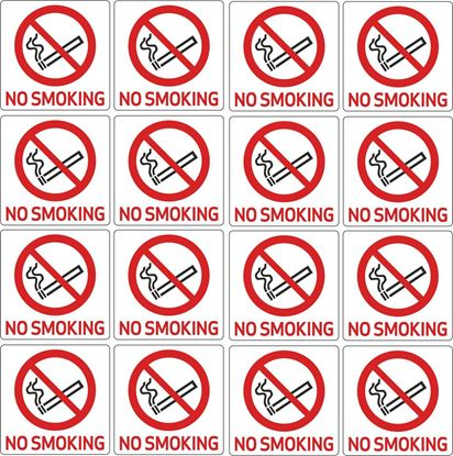 "Picture of Bus / Coach  ""No Smoking"" X16 @ 76mm  Stickers"