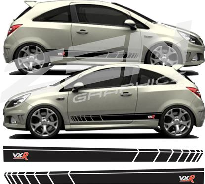 Picture of Vauxhall Corsa VXR Stripes / Stickers