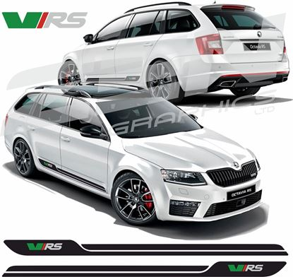 "Picture of Skoda Octavia ""VRS"" Side Stripes / Stickers"