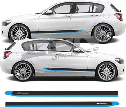 "Picture of BMW 1 Series F20 ""M sport"" side Stripes / Stickers"