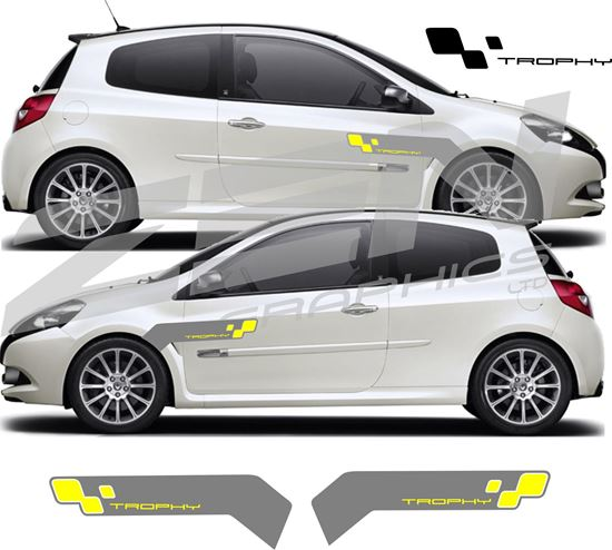 Picture of Renault Clio / Twingo / Megane Trophy front wing / Vent Decals / Stickers