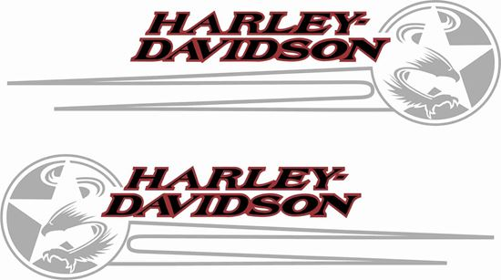 Picture of Harley Davidson Softail panel / Tank  Decals / Stickers