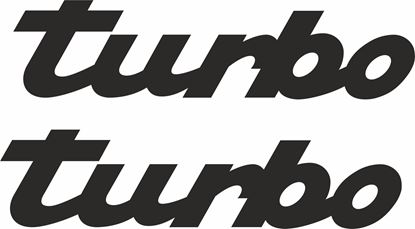 "Picture of Porsche  ""turbo""  General panel Decals / Stickers"