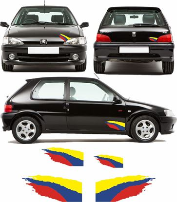 Picture of Peugeot 106 GTi / Rallye Swoosh Stickers / Decals