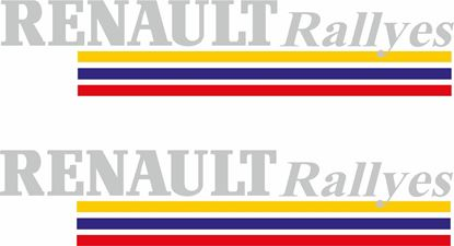 Picture of Renault Rallyes Decals / Stickers