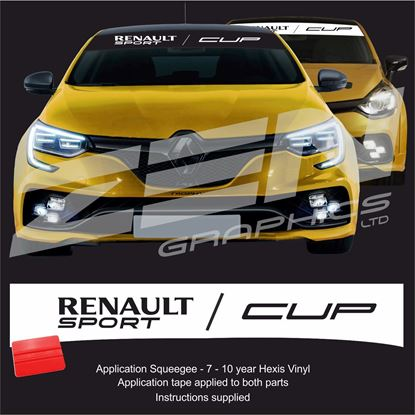 "Picture of ""Renault Sport Cup"" Sunstrip  / Sticker"