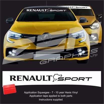 "Picture of ""Renault Sport Nurburgring"" Sunstrip  / Sticker"