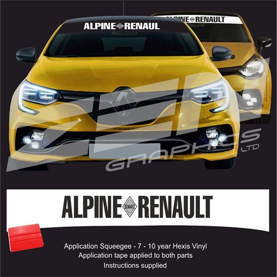 "Picture of ""Apline Renault"" Sunstrip  / Sticker"