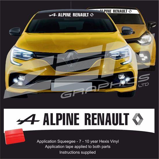 """Picture of """"Apline Renault"""" Sunstrip  / Sticker"""