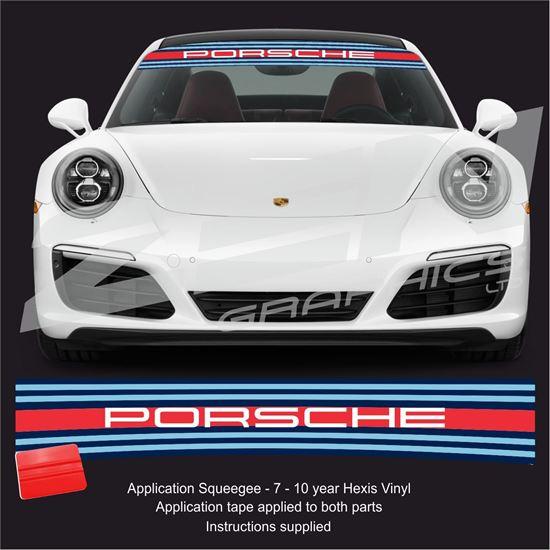 """Picture of """"Martini Porsche"""" Sunstrip  / Sticker"""