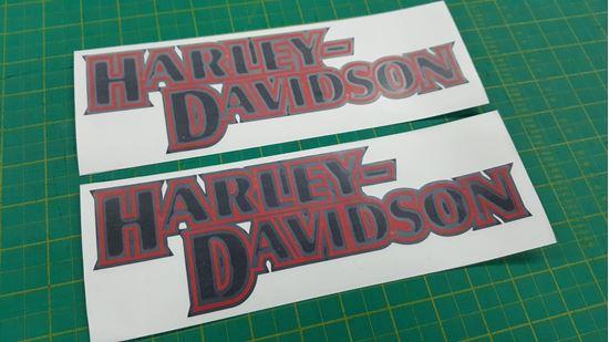 Zen Graphics Harley Davidson Panel Tank Decals Stickers
