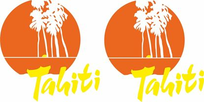 """Picture of Mini Metro """"Tahiti"""" replacement side  Decals / Stickers"""