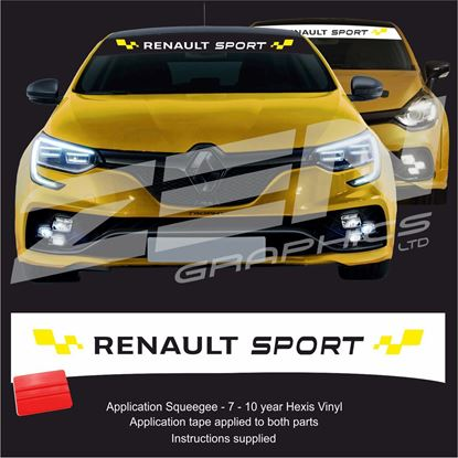 "Picture of ""Renault Sport"" Sunstrip  / Sticker"