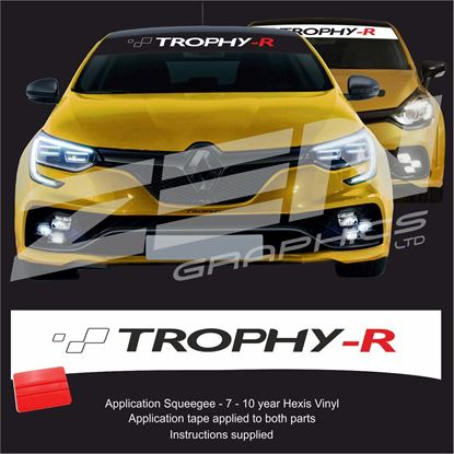 "Picture of ""Trpohy-R"" Sunstrip  / Sticker"