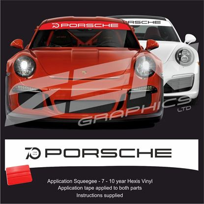 "Picture of ""70 Porsche"" Sunstrip  / Sticker"