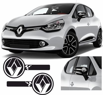 Picture of Renault Clio / Twingo / Megane Mirror cover Decals / Stickers