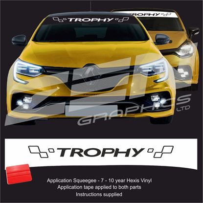 "Picture of ""Trophy"" Sunstrip  / Sticker - copy"