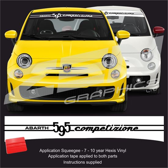 "Picture of ""Abarth 595 Competizione"" Sunstrip  / Sticker"