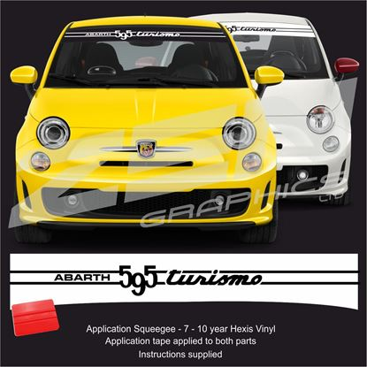 "Picture of ""Abarth 595 Tourismo"" Sunstrip  / Sticker"