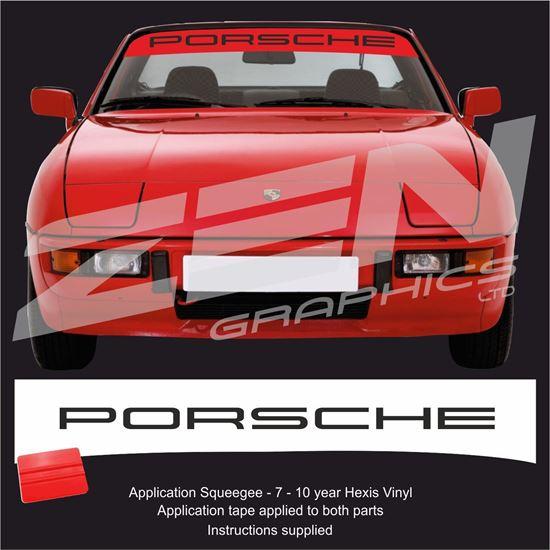 """Picture of 924 / 944 """"Porsche"""" Sunstrip  / Sticker"""