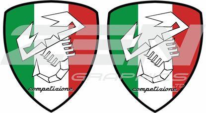 Picture of Fiat Abarth Italia competizione Decals / Stickers