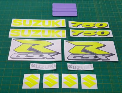 Picture of GSX-R 750 K6 Custom fluorescent replacement Decals / Stickers