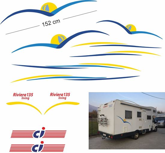 Picture of CI international RIVIERA LIVING 135 Camper Decals  / Stickers kit