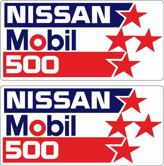 "Picture of ""Nissan Mobil 500"" Decals / Stickers"