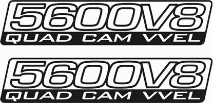 """Picture of Nissan Patrol """"5600 V8 Quad Cam VVEL"""" side replacement Decals / Stickers"""