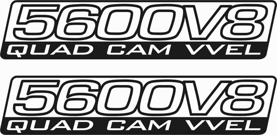"Picture of Nissan Patrol ""5600 V8 Quad Cam VVEL"" side replacement Decals / Stickers"