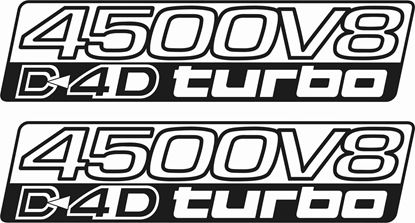 "Picture of Toyota Prado / Land Cruiser ""4500 V8 D4D Turbo"" side replacement Decals / Stickers"