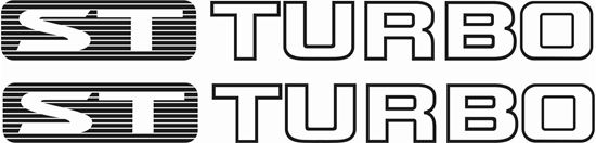 """Picture of Nissan GU Patrol """"ST Turbo"""" replacement  Decals / Stickers"""