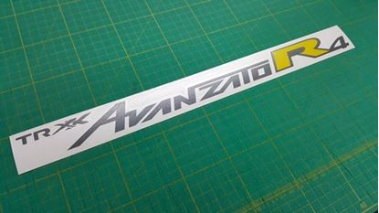 "Picture of Daihatsu Cuore / Mira"" TR XX  Avanzato R4"" replacement rear Bumper Decal / Sticker"