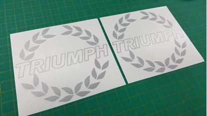 Picture of Triumph TR7 / TR8 replacement Bonnet Decals / Stickers