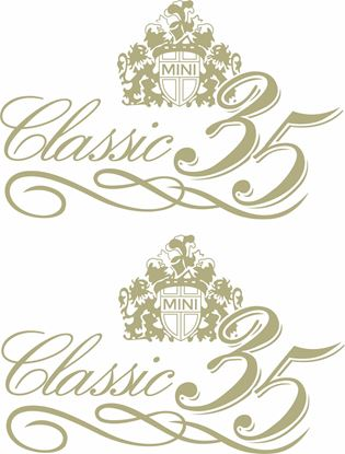"Picture of Mini Replacement  ""Mini Classic 35"" Decals / Stickers"