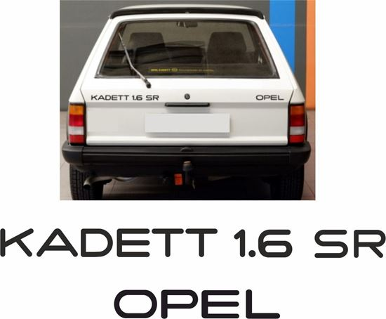 Picture of Opel Kadett 1.6 SR rear boot lid restoration Decals / Stickers