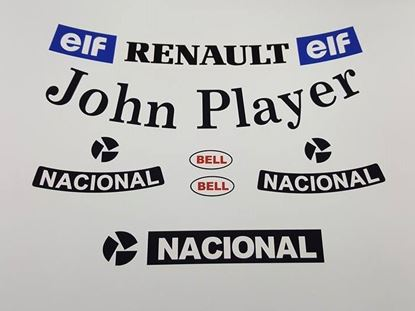 "Picture of ""Ayrton Senna"" 1985 Lotus F1 Replica Helmet Decal / Sticker kit"
