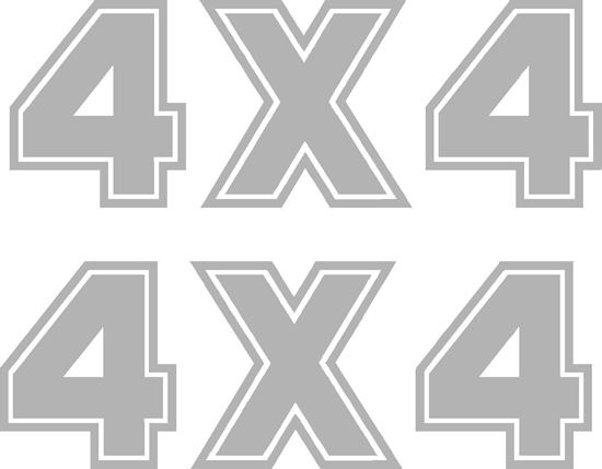 "Picture of Fiat Panda 4x4 Rear side Quarter ""4x4"" Decals / Stickers"
