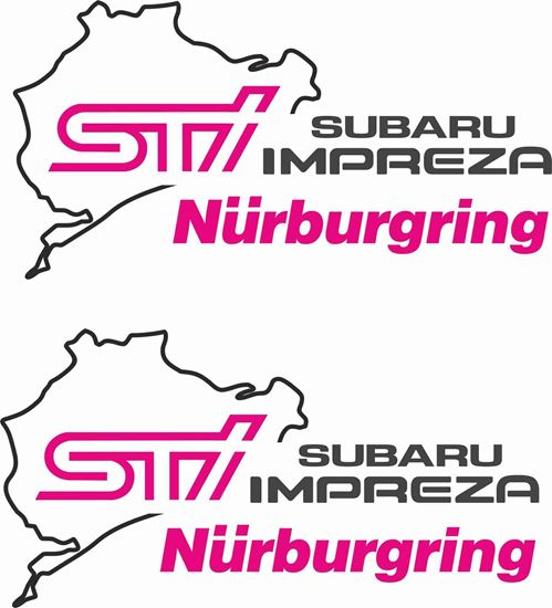 Picture of Subaru Impreza Nurburgring Decals / Stickers