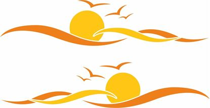 Picture of Sunset waves General panel Decals / Stickers