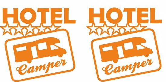 "Picture of ""Hotel Camper"" Camping General panel Decals / Stickers"